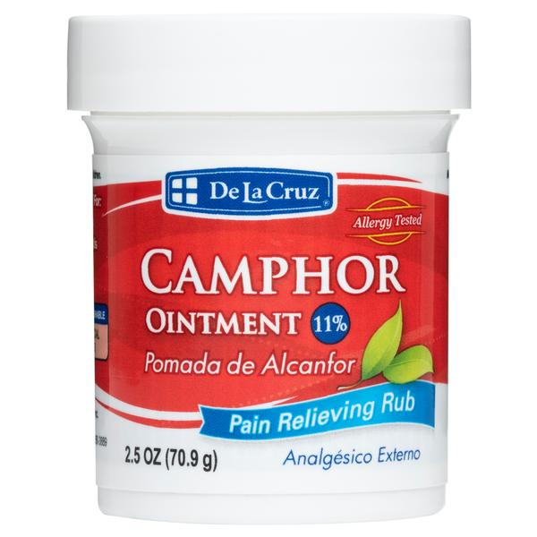 De La Cruz® 11% Camphor Ointment, Maximum Strength Topical Pain Reliever 2.5 OZ (70.9 g)