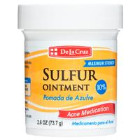 Medicinal - Topical Products - De La Cruz®  10% Sulfur Ointment Maximum Strength Acne Treatment 2.6 OZ (73.7 g)