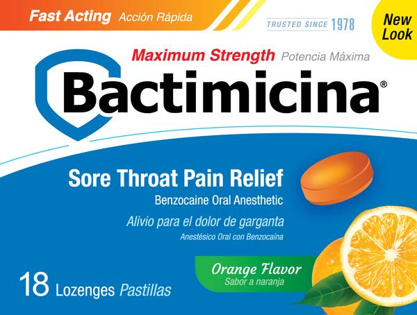 Bactimicina® Maximum Strength Throat Lozenges 18's
