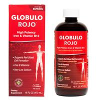 Dietary Supplements - Globulo Rojo® Liquid Dietary Supplement with High Potency Iron & B Vitamins 16 FL OZ (473 mL)